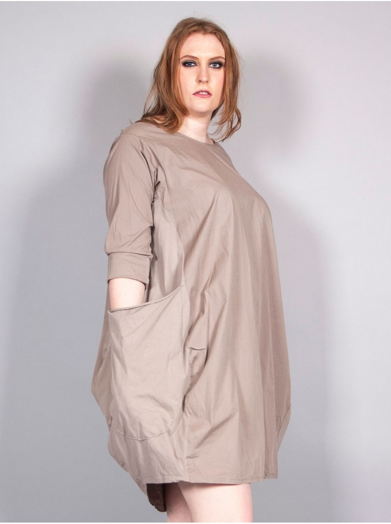 robe-bulle-a-poches-taupe
