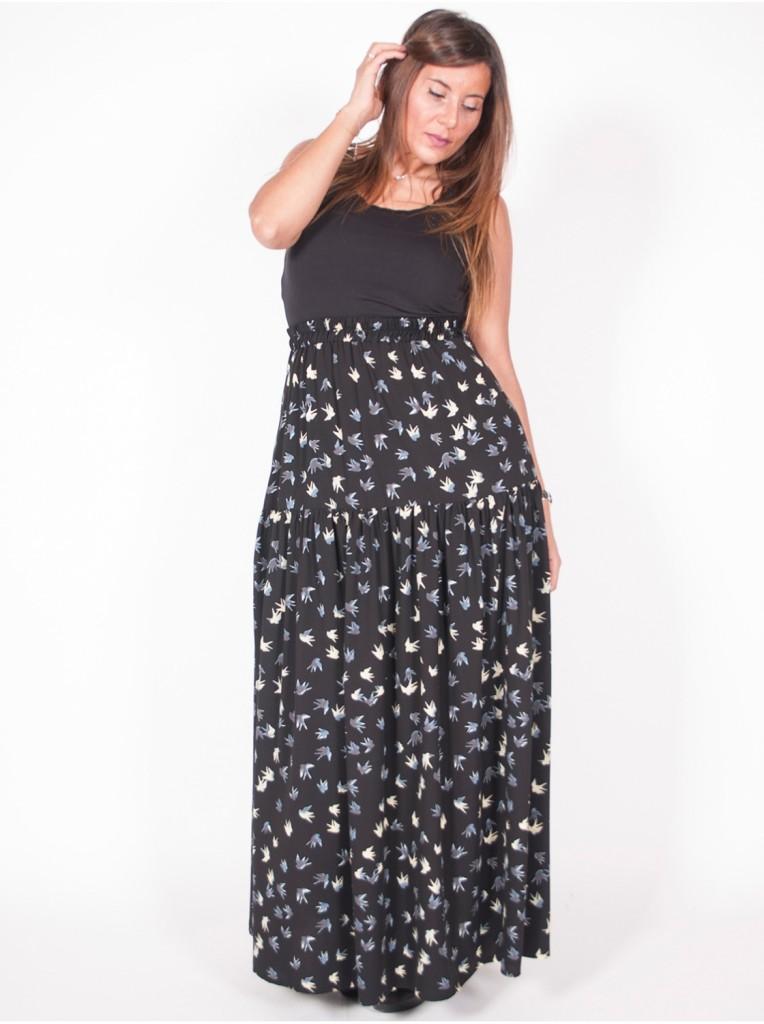 jupe-edmond-boublil-motif-noir